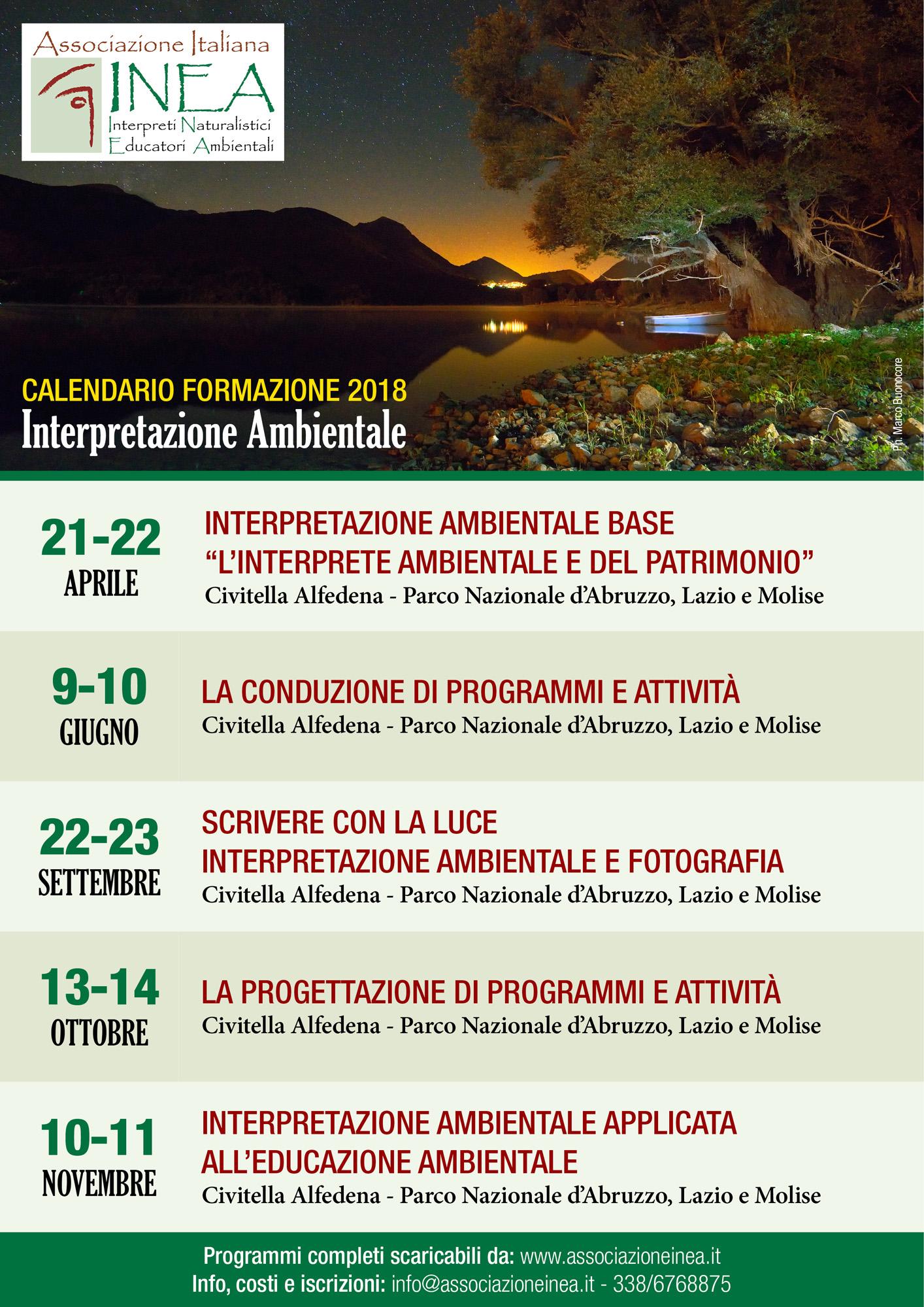 CALENDARIO FORMAZIONE 2017